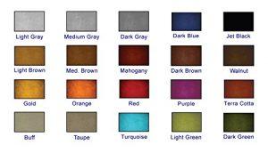 Color Chart of Concrete Dyes