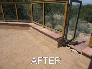 Colored Concrete Sealer X-3 AFTER