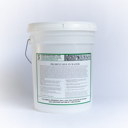 5 gallons of water based concrete dye